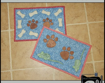 PDF Pattern for Dog & Cat Mat or Mini Quilt for Your Pets - Cat Quilt Pattern - Dog Quilt Pattern - Sewing Pattern, Tutorial, DIY
