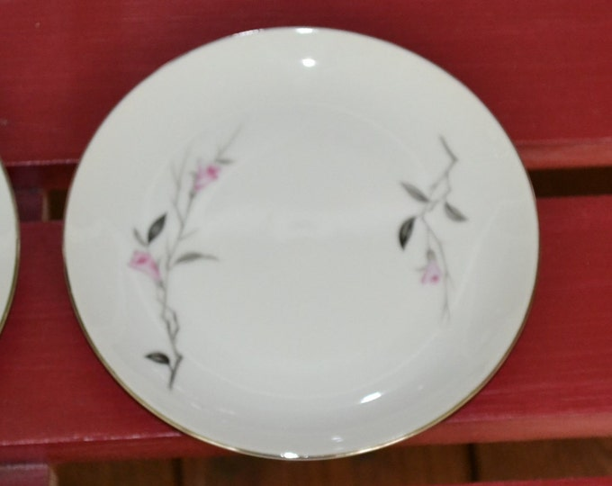 Vintage Cherry Blossom Fine China Plate Set of 2 Bread Dessert Japan Replacement Plate PanchosPorch