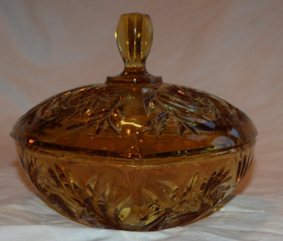 Vintage Amber Indiana Glass Co.