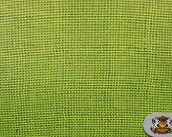 "Burlap Jute LIME Fabric / 58"" / Sold by the yard"