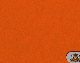 "Tangerine Acrylic Felt Fabric / 72"" Wide / Sold by the Yard"