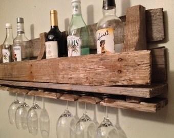 Reclaimed/Pallet Wood Wine Rack