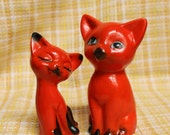 Vintage Orange Cats- Set of 2