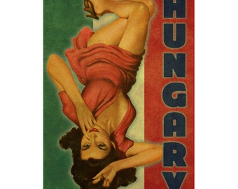 HUNGARY 1PS- Handmade Leather Journal / Sketchbook - Travel Art