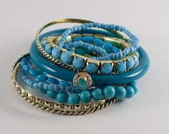SALE Turquoise Layering Bracelets