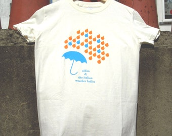 "Screen-printed ""Aidan & the Italian Weather Ladies"" ladies tee-shirt"