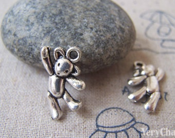 20 pcs of Antique Silver Lovely Animal Charms 19mm A4335