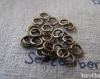 500 pcs of Antique Bronze Brass Jump Rings  4mm 22gauge A2343