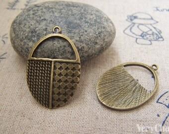 10 pcs of Antique Bronze Lovely Handbag Charms 19x29mm A2180