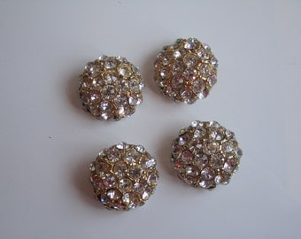 Goden, crystal vintage buttons.