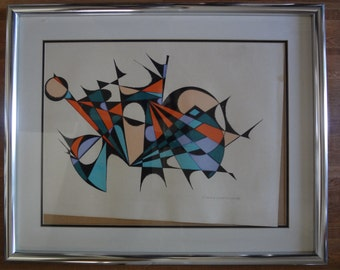 Vintage, Italian listed artist, serigraph, limited edtion.