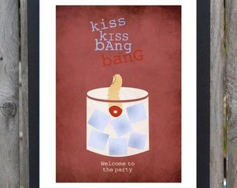 kiss kiss bang bang minimalist movie poster