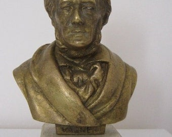 Bronze Bust Vagner Figure Sculpture