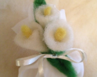 Carded Wool Favors