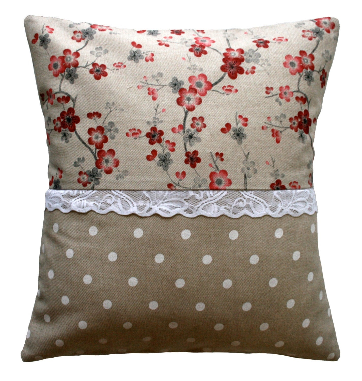 Handmade pillow cover country chic for Cuscini country chic