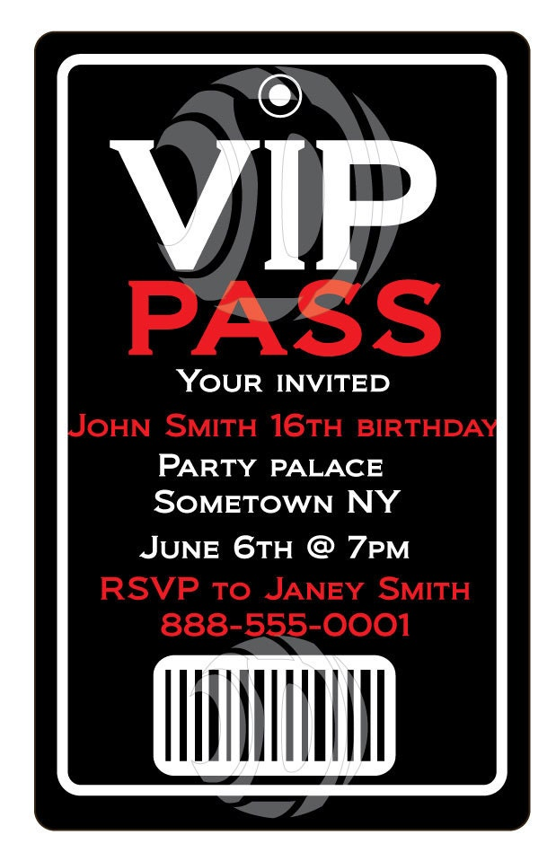 Invitation Vip for best invitations sample