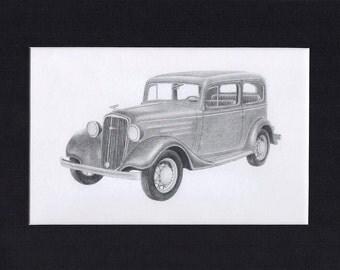 Car art of a 1934 Chevrolet