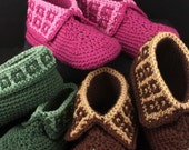 Crochet Slippers Pattern: Family Slippers for men, women and teens, PDF download