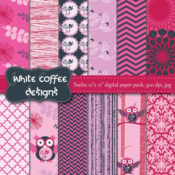 Items Similar To Paper Goods Premade Pages Scrapbook Paper Owls