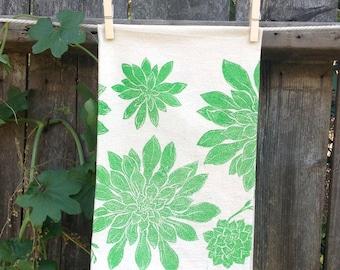 Succulents Flour Sack Tea Towel