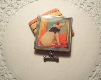 Vintage Jewelry Refrigerator Magnet (3) Great dog lover gift