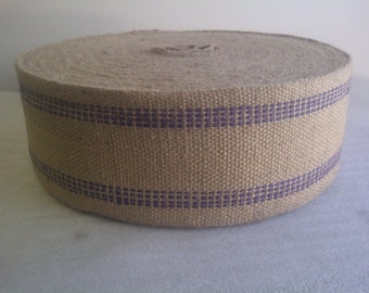 Jute Webbing Blue - 10 Yards Bolt