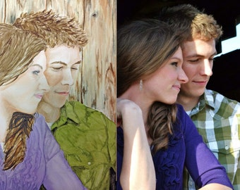Custom Handpainted Watercolor of YOUR Photo