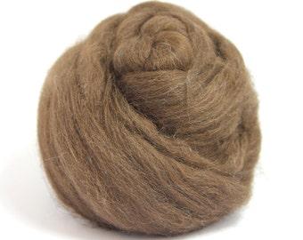 Dark Brown De-haired Llama Top / Roving - Spinning Fibre / Fiber - Felting