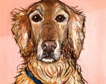 Custom Pop Art Pet Portraits, Canvas Pet Portrat, Custom Pet Portrait large canvas painting, Lovely Christmas gift, golden retriever