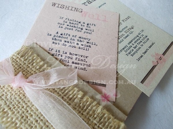 Cheap Shabby Chic Wedding Invitations: Rustic Burlap Lace Wedding Invitations: Shabby Chic