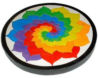 The Color Wheel Puzzle Waldorf Toy Wooden By Thepuzzledone