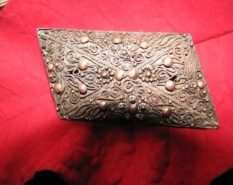 Vintage Brass Brooch - Unusuall Shape