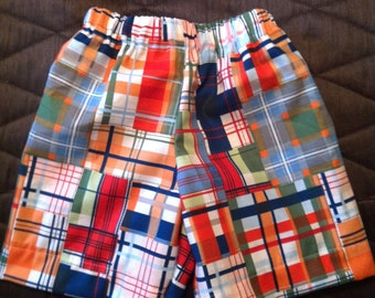 Boys Michael Miller Going Coastal Plaid Shorts
