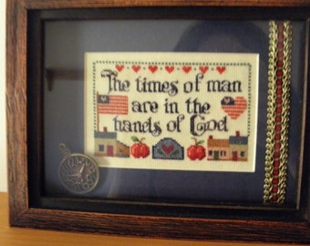 Hands of Gods Cross Stitch Shadow Box