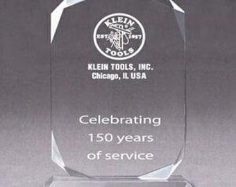 "Acrylic Diamond Award  "" 8 X10 """