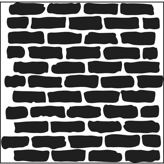mur de briques pochoir 6 x 6. Black Bedroom Furniture Sets. Home Design Ideas