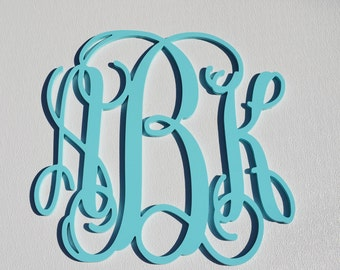 24'' Custom Wood Monogram in Vine Font, Wooden wall monogram, photo prop, nursery decor