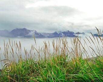 Alaska, Landscape Photography, Misty Mornig Alaska, Nature Photography, Sewart Alaska, Mountain View,  Hiking Alaska,