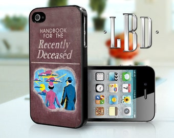 iPhone 4 4s Case - Beetlejuice Handbook Recently Deceased Cover iP4