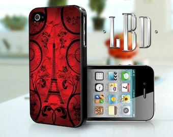 iPhone 4 4s Case - Paris Art Red iP4