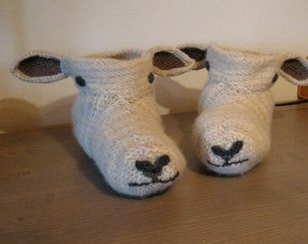Popular Items For Sheep Slippers On Etsy
