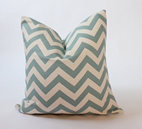 Throw Pillow Covers 18 X 18 : 18 x 18 inch Decorative Pillow Cover Chevron by ThePillowPalette