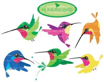 Hummingbird Clip Art - digital clip art graphics - digital scrapbook clipart - scrapbook clip art - Personal and Commercial Use