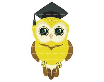 Owl Graduation Clipart Clip Art, graduation owl, graduation owl clip art - Personal and Commercial Use