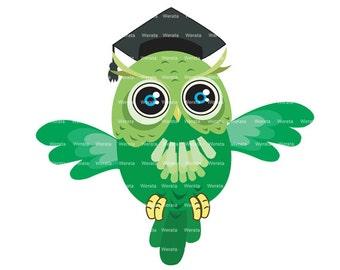 Education Clipart Clip Art, graduation owl, graduation owl clip art - Personal and Commercial Use
