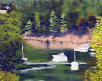 Friday Harbor II Limited Edition Print, signed and numbered 30x22 unframed.