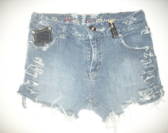 Distressed Denim Jeans Destroyed Blue Jean Cutoff Frayed Shorts - Yes Jeans