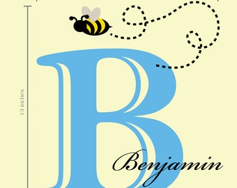 Custom Bumble Bee Name Wall Decal