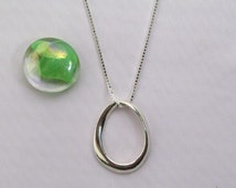 Mobius Sterling Silver Oval Pendant, Mobius Pendant, Oval Pendant, Infinity, Mobius Infinity