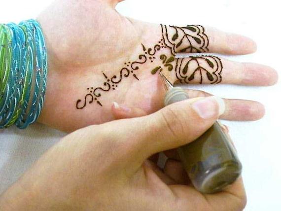 Henna Tattoo Paste Cost: Jaquard Jaq HENNA Tattoo Paste Paint Glue Gel By